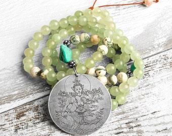 Mala Necklace, Buddha Necklace, Spiritual Necklace, Yoga Necklace, Buddhist Necklace, 108 Mala Beads