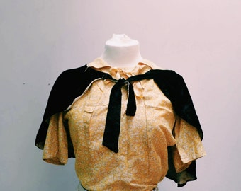 1930s printed silk blouse,