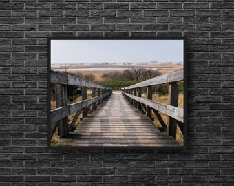 Stairs Photo - Wooden Stairs - Lake Photo - Landscape Photo - Nature Photo Print - Photography - Wall Art - Wall Decor - Living Room Decor
