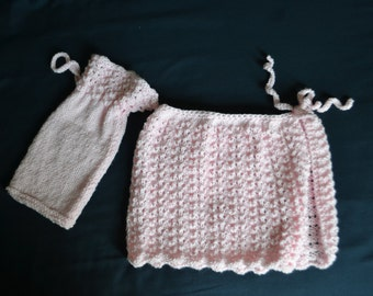 Ballet skirt with and a bag for ballet shoes