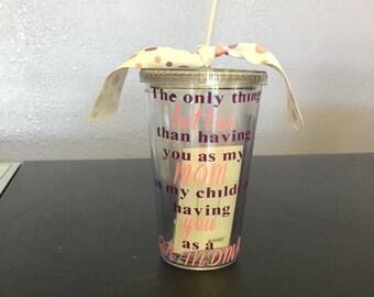 Mother's Day Gift, Mom Tumbler, Gift for Mom, Mom Personalized Tumbler, Mom Est. Tumbler, Mommy Est. Tumbler, New mom gift, babyshower gift