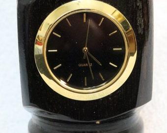 Gaboon Ebony Clock