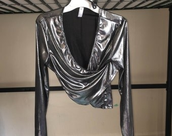 Silver Metallic American Apparel Top Size M