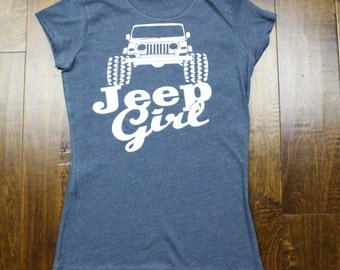 "econscious EC3800 Women's Blended Eco T-Shirt, ""Jeep Girl"""