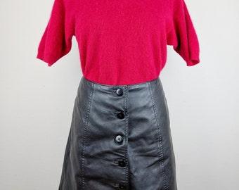 Vintage Red Cashmere T-Shirt / Size M-L