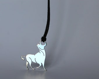 Zodiac Sign Taurus-pendant-925 Silver, hand made