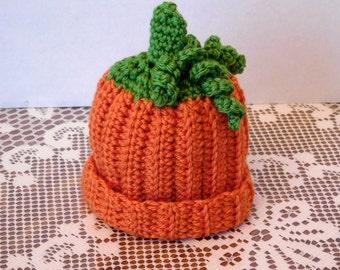 Crocheted Pumpkin Hat