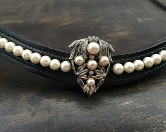 Art Deco Couture Pearl Browband *SALE*