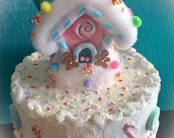 Whimsical Gingerbread House Fake Cake
