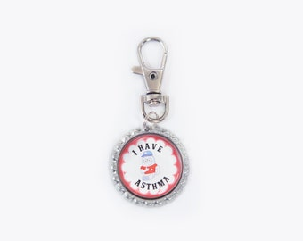 asthma, medical ID, medical safety tags, asthma safety ID, medical jewelry