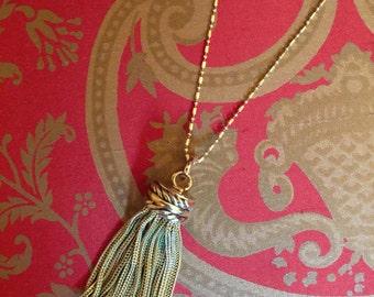 Vintage Goldtone Tassel Pendant