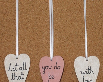 Let All That You Do Be Done With Love Heart Wall Hanging