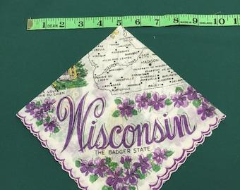 Wisconsin State  hankie 1950's