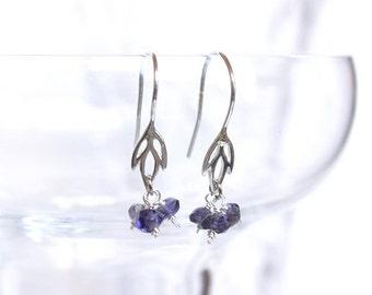 Iolite Iris Earrings