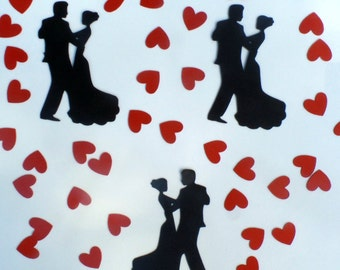 Dancing Couple Confetti - (230 pieces) Engagement Party, Wedding, Dance Party, Dance Competition, Hearts