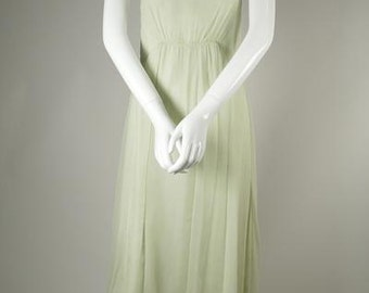 Ethereal Silk Chiffon Dress