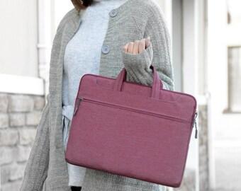 Womens Briefcase / laptop sleeve / laptop bag / mens briefcase / laptop briefcase / macbook briefcase / vegan briefcase / macbook bag