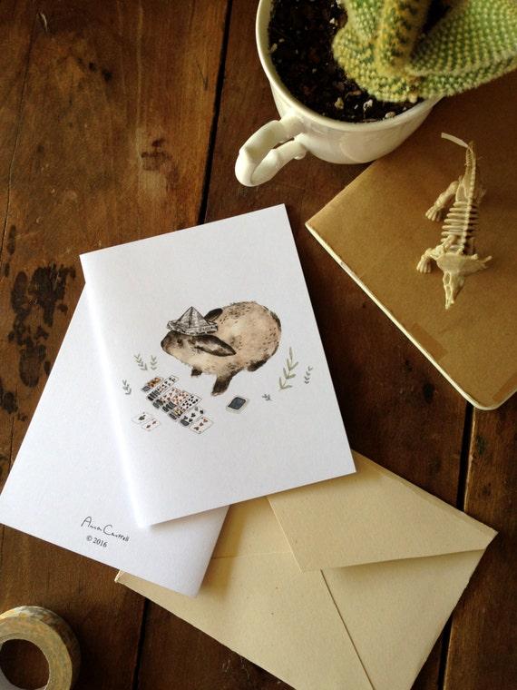 Warm Weather Animals - Note Card Set - Digital - Downloadable PDF