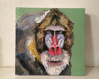 Original Baboon Oil Painting