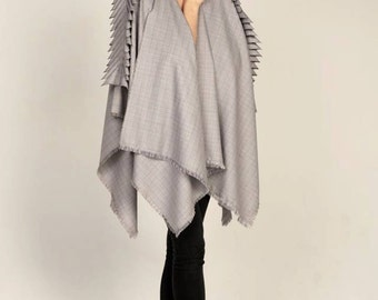 handmade tartan cape with lovely details
