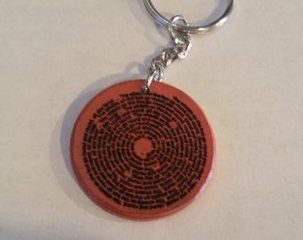 Wheels On The Bus Lyric keychain - round 35mm