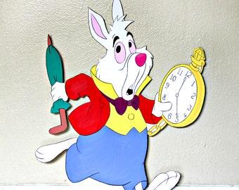 2+ FT White Rabbit Cutout Standee Alice in Wonderland Photo Prop