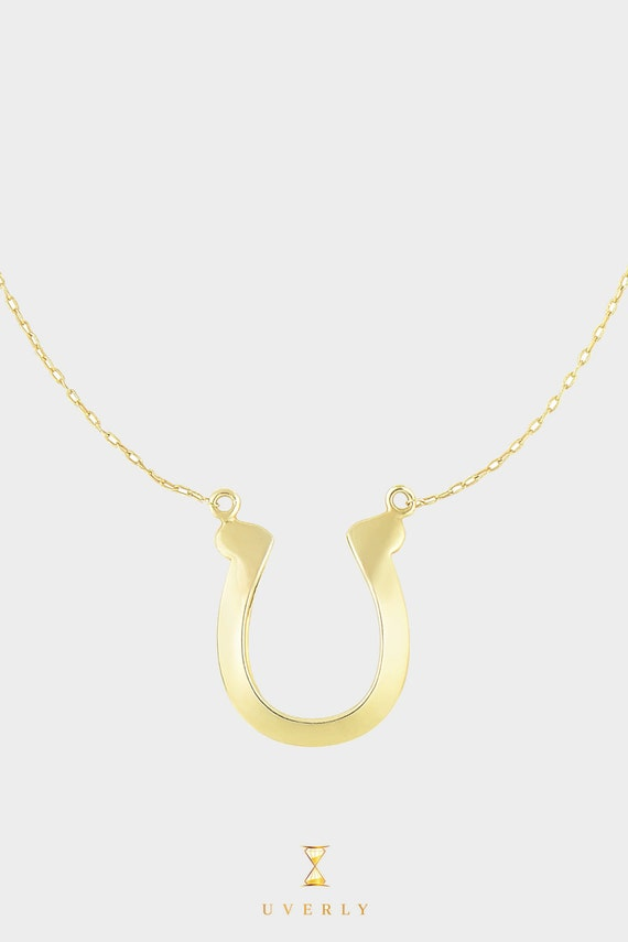 14k Solid Yellow Gold Womens Fortune Luck Charm Pendant Chain Necklace