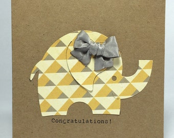 Congratulations! New Baby Elephant Card