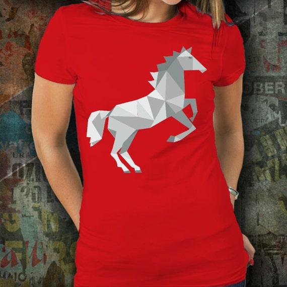 Horse tshirt / horse t-shirt / equestrian clothing / equestrian gifts / horse gifts / tessellation / horse clothing / women's horse gear