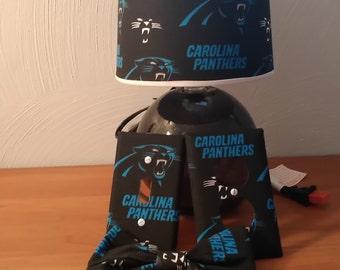 Carolina Panthers lamp set