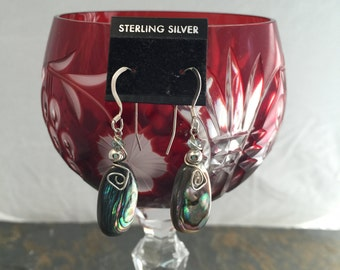 Abalone Bead with Sterling silver wire wrapping
