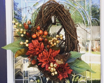 Oval Bird's Nest Wreath