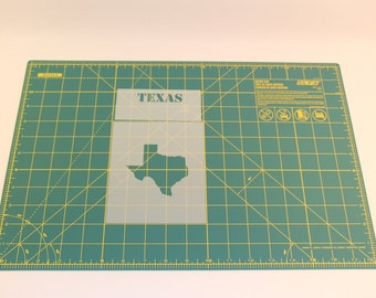 Texas Stencil w/ State Name - Reusable Mylar Stencil Template