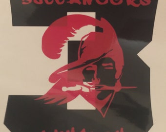 Customized Throwback Buccaneers Decal