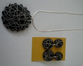 Silkscreen on Polymer Clay