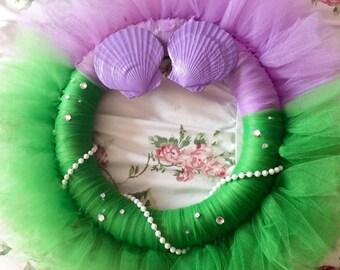 Little Mermaid Tulle Wreath