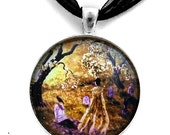 Lenore Raven Poe Ghost Cemetery Gothic Dark Art Handmade Jewelry