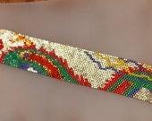 Fast Peyote Stitch pattern for Chinese Dragon -- Josie Fabre