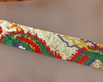 Fast Peyote Stitch pattern for Chinese Dragon -- Josie Fabre