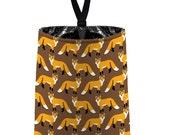 Car Trash Bag // Auto Trash Bag // Car Accessories // Car Litter Bag // Car Garbage Bag - Red Fox - Coyote brown orange