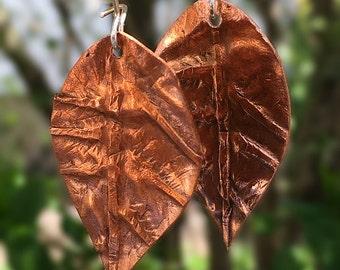 Copper Leaf Earings