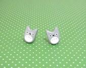 My Neighbor Totoro Clay Stud Earrings