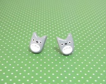 My Neighbor Totoro Clay Stud Earrings