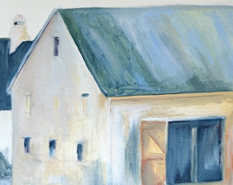 barn painting original oil painting art print Copper Roof Barn archival print of oil painting