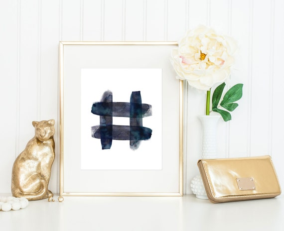 Indigo print hashtag print indigo wall art zen print for Decor hashtags
