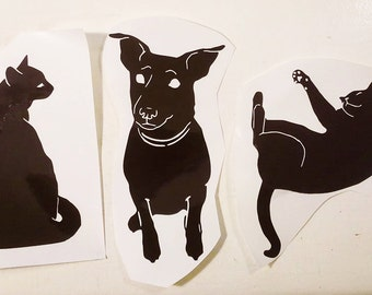 Custom Pet Decal Vinyl