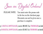 DISCOUNT INFORMATION ONLY - Do Not Purchase This Listing - You Must Use The Discount Codes Below