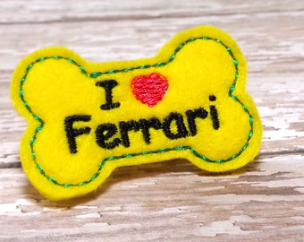 DOG BOWS, Ferrari Car, Dog Grooming, Dog Hair Bow, Classic Car, Best Gift Ideas, Felt Bows, I heart Ferrari