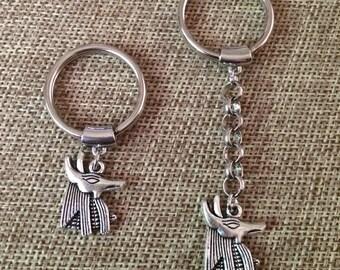 Silver Anubis Keychain / Anubis Key Chain / Anubis Key Ring / Egyptian Key Chain/ Egyptian Key Ring / Mens Keychains