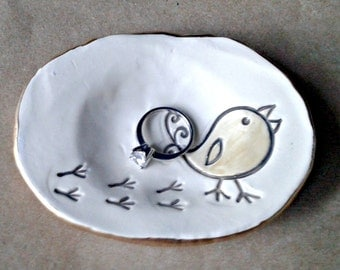 Ceramic Chick Trinket Dish
